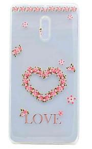 Para la caja transparente de la contraportada del patrón de la cubierta del caso de nokia 6 caso suave de la PU de la flor