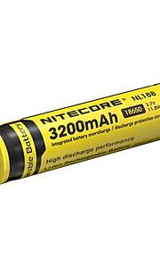 1pcs nitecore 3.7v 11.8wh bateria recarregável 18650 de iões de lítio 3200mAh nl1832