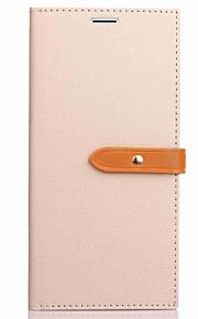 아이폰 7 플러스 케이스 커버 카드 홀더 지갑 플립 전신 케이스 솔리드 컬러 하드 폴리 우레탄 가죽 아이폰 6 6 플러스 5 5s se