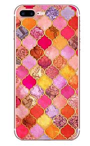 애플 아이폰 7 7 플러스 6s 6 플러스 케이스 커버 레드 다이아몬드 패턴 hd 페인트 tpu 소재 소프트 케이스의 전화 케이스