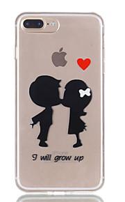 Voor iphone 7plus 7 tpu materiaal kind patroon reliëf telefoon hoesje 6s plus 6plus 6s 6 se 5s 5
