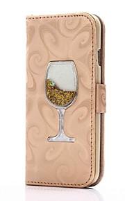 iphone 7 7 케이스 플러스 케이스 커버 카드 홀더 지갑과 함께 이동하는 모래 퍼널 아이폰 6 플러스 pu 가죽 케이스 6 플러스 5 5s se