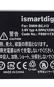 Ismartdigi BCJ13 3.6V 1250mAh Camera Battery for Panasonic DMC-LX5 LX5GK DMC-LX7 LX7GK