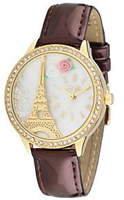 Жен. Модные часы Кварцевый Цифровой Защита от влаги PU Группа Белый Коричневый Розовый