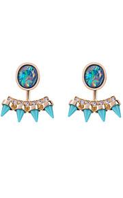 Dame Dråbeøreringe Smykker Geometrisk Boheme Stil Håndlavet Strækbart luksus smykker Victoriansk Statement-smykker LegeringGeometrisk