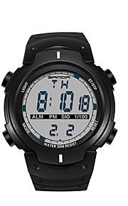 SANDA 남성용 스포츠 시계 밀리터리 시계 스마트 시계 패션 시계 손목 시계 일본어 디지털 LED 만보기 피트니스 트렉커 스톱워치 야광 충격 방지 실리콘 밴드 멋진 블랙