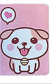 För äpple ipad (2017) luft 2 skalskydd med stativ flipmönster full kroppsväska hund hjärta hårt pu läder luft mini 4/3 2 1 ipad2 3 4
