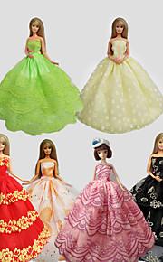 Fest/Aften Kjoler Til Barbiedukke Kjoler Til Pigens Dukke Legetøj