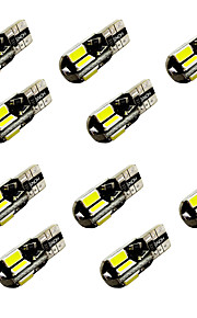10PCS W5W T10/BA9S T4W 8SMD 5730 Decode Indicator Light Lamp Light Reading Light White DC12V 2W canbus