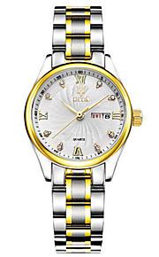 Mulheres Relógio de Moda Quartzo Calendário Impermeável Lega Banda Prata