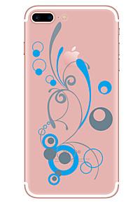 Caso para iphone 7 7 mais flor padrão tpu capa traseira suave para iphone 6 mais 6s mais iphone 5 se 5s 5c 4s
