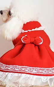 Koira Hameet Koiran vaatteet Söpö Joulu Rusetti Keltainen Fuksia Punainen Sininen Pinkki