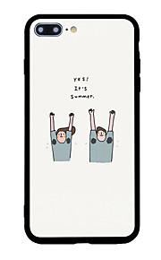 케이스 커버 패턴 뒷면 커버 케이스 만화 단어 / 문구 하드 아크릴 아이폰 7 플러스 7 6s 플러스 6 플러스 6s 6 5s SE 5