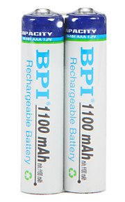 Bpi aaa 1.2 v 1100mAh şarj edilebilir pil