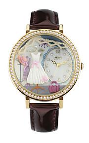 Жен. Модные часы Кварцевый Цифровой Защита от влаги PU Группа Коричневый