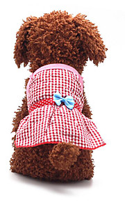 Dog Dress Dog Clothes Casual/Daily Fashion Bowknot Blushing Pink Blue Ruby Yellow