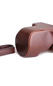Dengpin pu læder kamera taske taske cover til fujifilm x-a10 xa10 (assorterede farver)