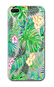 아이폰 7 플러스 7 케이스 커버 투명 패턴 다시 커버 케이스 꽃 나무 소프트 tpu 6s 플러스 6s 6 플러스 6 5s 5 se