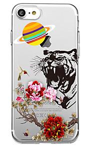 Voor iphone 7 plus 7case cover milieuvriendelijke transparante patroon achterkant behuizing dierlijke bloem zachte tpu voor iphone 6s plus