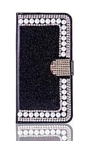 아이폰 7 플러스 케이스 커버 카드 홀더 지갑 라인 석 스탠드 플립 전신 케이스 반짝이 아이폰 6 6 플러스 5 5S SE를위한 하드 우레탄 손질