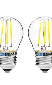 4W Lampadine LED a incandescenza G45 4 COB 300 lm Bianco caldo Bianco Lampada UV (a ultravioletti) Oscurabile V 2 pezzi
