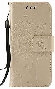 För Apple iPod Touch 5 touch 6 fodral korthållare plånbok med stativ flip präglat mönster full body case tree hard pu läder