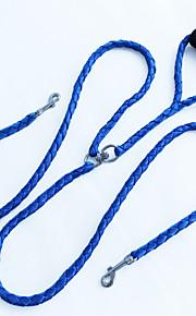 Cuerda de la tracción del animal doméstico cuerda tejida mano de la cuerda manija doble dirigida cuerda del perro de alta calidad que