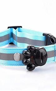 Kaulapannat bark Collar Kannettava LED-valo Turvallisuus Säädettävä Polka Dot Kangas