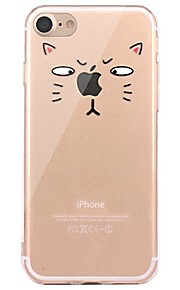 Caso per il iphone 7 6 che gioca con il marchio di mela tpu la copertura posteriore ultra-sottile della copertura posteriore morbida