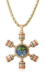 Dame Halskædevedhæng Opal Geometrisk form Legering Unikt design Euro-Amerikansk Personaliseret Smykker Til Afslappet Udendørsbeklædning