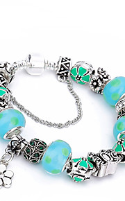 2017 Fashion Butterfly Women's  Charm Bracelet Strand Bracelet Friendship Beaded Crystal Silver Plated Ball Jewelry