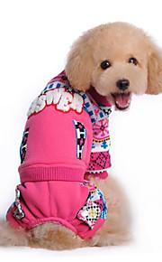 Hund Pullover Hundekleidung Lässig/Alltäglich Schneeflocke Blau Rosa