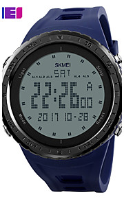 SKMEI Homens Relógio Esportivo Relogio digital Digital PU Banda Preta Azul Verde Cinza