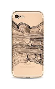 Case voor iphone 7 plus 7 cover transparante patroon achterkant case lijnen / golven soft tpu voor iphone 6s plus 6 plus 6s 6 se 5s 5c 5