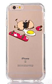 Caso per iphone 7 6 copertura posteriore ultra-sottile morbida della copertura posteriore della copertura posteriore del tpu del fumetto 6
