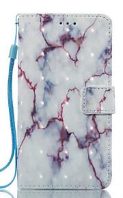 För lg k8 (2017) k10 (2017) fallhölje vit och lila mönster 3d målade kort stent plånbok telefonväska för lg k7 k8