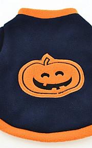 Dog Shirt / T-Shirt Dog Clothes Halloween Pumpkin Dark Blue