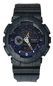 SANDA Męskie Sportowy Zegarek cyfrowy Japoński Kwarcowy Cyfrowe Wodoszczelny Dwie strefy czasowe alarm Guma Pasmo Nowoczesne Na co dzień