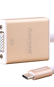 Type-C VGA 1080P ハイスピード ケーブル 用途 MacBook Huawei Xiaomi cm アルミ