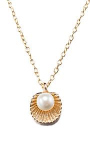 Dame Halskædevedhæng Imiteret Perle Geometrisk form Imiteret Perle Sølvbelagt Guldbelagt LegeringEnkelt design Unikt design Tatovering
