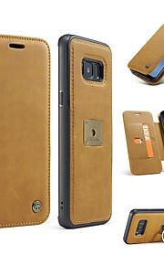 Pokrowiec do samsung galaxy s8 s8 plus 2 w 1 magnetyczny luksusowy prawdziwy skórzany portfel telefon komórkowy torba pokrowiec telefon