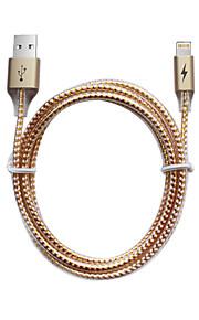 Lightning USB 2.0 Trenzado Normal Cable Para iPhone iPad cm Aluminio