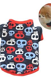 Gato Cachorro Casacos Camiseta Moletom Roupas para Cães Festa Casual Mantenha Quente Caveiras Preto Cor camuflagem