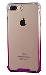 Tilfelle for eple iphone 7 7 pluss tilfelle deksel gradient fire hjørner slipp akryl bakplane tpu ramme materiale telefon tilfelle 6s 6