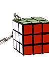 Magic Cube IQ Cube Three-layer With Keychain Smooth Speed Cube Magic Cube puzzle Black Plastic