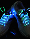 Flash Grow Stick Cyan Light Waterproof LED Shoelace (1-Pair)
