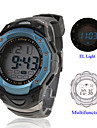 Waterproof Digital Multifunction EL Light Automatic Watch with Calendar & Alarm & Chronograph - Blue