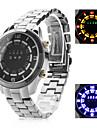 시계와 남성의 다기능 합금 디지털 LED 손목 시계 (블랙)
