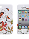 Protective Smooth Polycarbonate Front and Back Case for iPhone 4 and iPhone 4S (Maple Leaf)