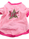 Dog Shirt / T-Shirt Pink Spring/Fall Stars / Animal